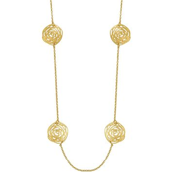 DAISY STATION NECKLACE IN GOLD
