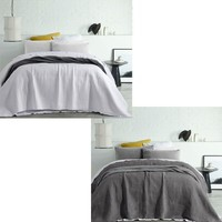 Vintage Washed Microfibre Coverlet Zane by Accessorize