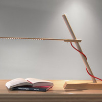 Slide LED Table Lamp with Colored Fabric Chords