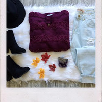 Berry Me Sweater- Purple