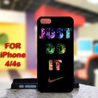 Nike Just Do it Glitter For IPhone 4 or 4S Case / Cover