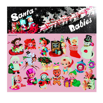 kewpie christmas stickers cute big eye dolly baby boopsiedaisy sticky poos