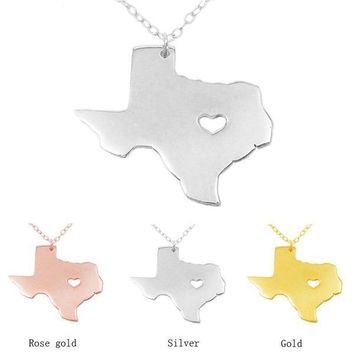 Texas Girl State Necklace - 3 Colors