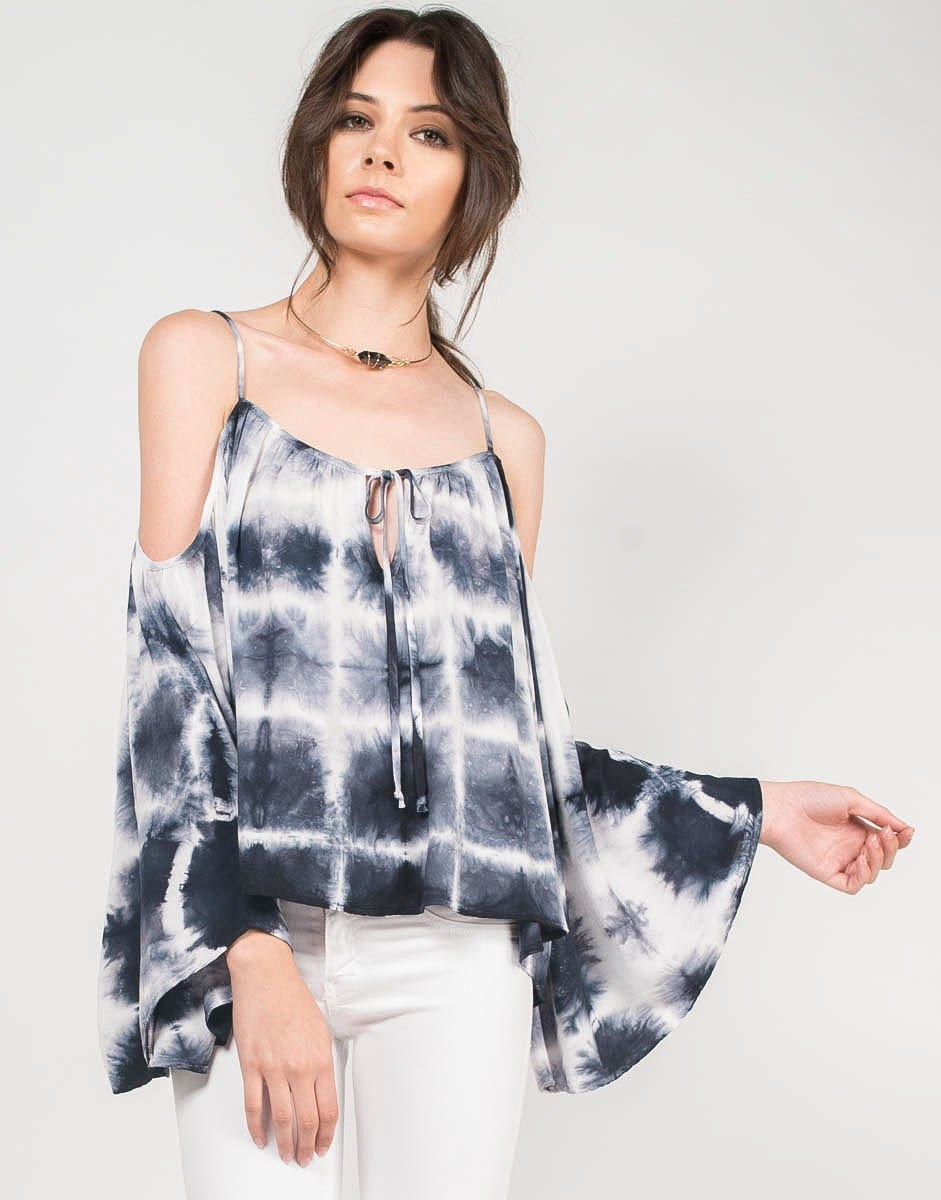 a32eecd2ff4e Tie-Dye Dream Cold Shoulder Top from 2020AVE