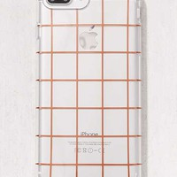 Rose Gold Grid iPhone 8/7/6/6s Case   Urban Outfitters