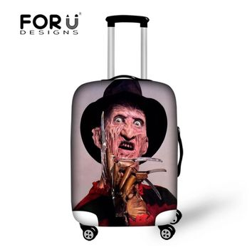 FORUDESIGNS Elastic Luggage Protective Covers Freddy Krueger of A Nightmare On Elm Street Thick Waterproof Travel Suitcase Cover