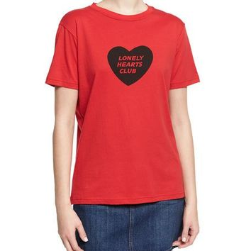 Alexa Chung Lonely Hearts Club Boxy Crewneck Tee