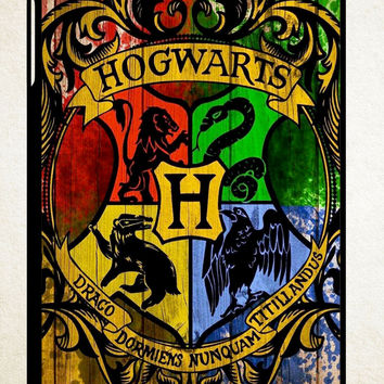 Harry Potter Hogwarts Logo wood Z0295 iPad 2 3 4, iPad Mini 1 2 3, iPad Air 1 2 , Galaxy Tab 1 2 3, Galaxy Note 8.0 Cases