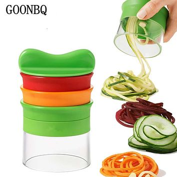 GOONBQ 1 pc 5 Layers Spiral Vegetable Grater ABS+Stainless Steel Carrot Cucumber Slicer Vegetable Fruit Spiral Blade Cutter Tool