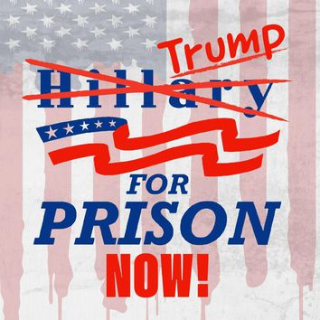 Trump for Prison Now! Presidential Parody Design - Vinyl Sticker