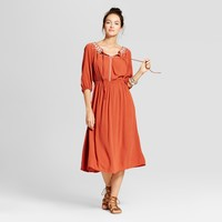 Women's Off the Shoulder Midi Dress - Knox Rose™ Rust XL