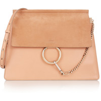 Chloé - Faye medium leather and suede shoulder bag