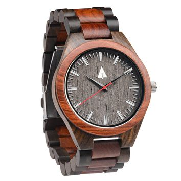 All Wood Watch // Redwood + Ebony 31 Red