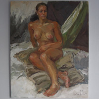 """BEST OFFER SALE!.. Nude Oil Painting: """"Morning"""" by Natalia Andreeva (Made in Chicago)"""
