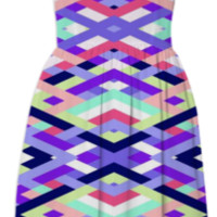 Smart Diagonals Coral created by House of Jennifer | Print All Over Me