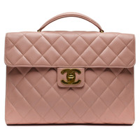 Chanel Light Pink Caviar Briefcase