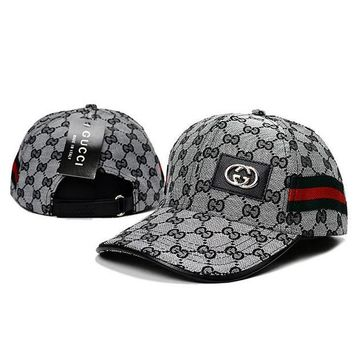 DCCKN7G GUCCI Women Men Print Adjustable Travel Hat Sport Cap