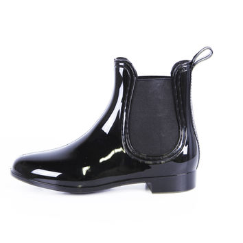Report Footwear Rain Slicker Vegan Bootie in Black