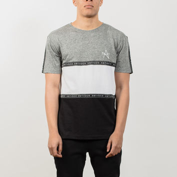 Taping T-Shirt - Black/White/Grey