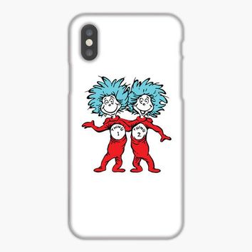 Dr Seuss Thing 1 And Thing 2 iPhone XS Max Case