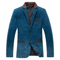 Men's Single Breasted Blazer Up To 3XL