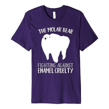 The Molar Bear T-Shirt Funny Dentist Orthodontist Pun Gifts