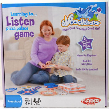Playskool Noodleboro Learning To Listen Pizza Palace Game