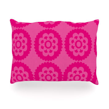 "Nicole Ketchum ""Moroccan Hot Pink"" Oblong Pillow"