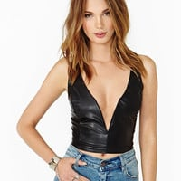 New Fashion Sexy Deep V-neck PU Leather Casual Women Crop Tops Winter/Spring Fitness Leather Top