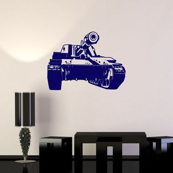 Vinyl Decal Tank Military War Boys Room Decor Wall Stickers Unique Gift (ig2723)