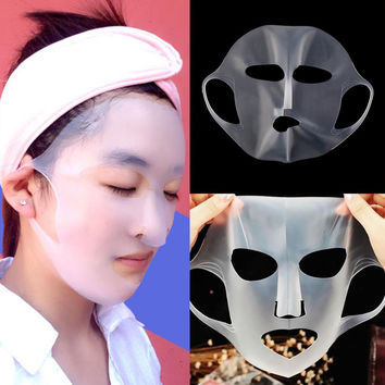 New Arrival Ear-hook Reusable Silicone Sheet Mask Cover for Absorption Makeup Tools Waterproof Beauty Face Moisturizing Mask