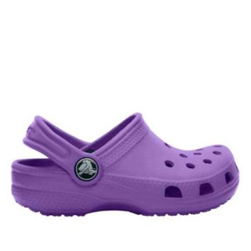 Crocs Classics Kids Neon Purple Clog