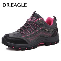 DR.EAGLE Outdoor trekking mountain womens hiking shoes hunting leather sport shoes female climbing hiking boots sneakers