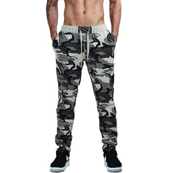 Light Color Camouflage Jogger Pans