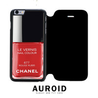 Chanel Nail Polish Rouge Rubis iPhone 6S Flip Case Auroid