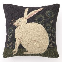 Hare W/Sunflowers Hook Pillow