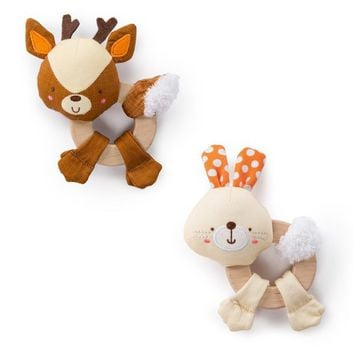 Bright Starts™ Simply Bright Starts™ Clutch & Hold Wood Toys - Characters May Vary