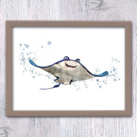 Finding Dory Mr. Ray print Disney Pixar art decor Finding Dory Mr. Ray art poster Pixar art print Kids room wall decor Nursery room art V98