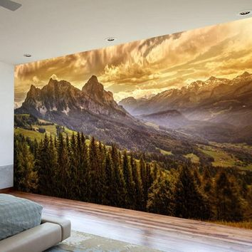 Wall mural forest, Self adhesive removable mural, wall covering, Forest Wallpaper, wall mural nature, removable wall mural, Nature mural