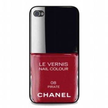 Pirate Red Nail Polish chanel Color for iphone 4 and 4s case