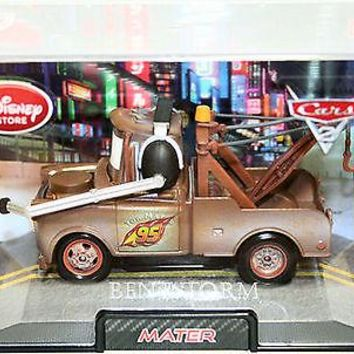 Licensed cool Disney Store Pixar CARS 2 Movie Die-Cast Tow Mater Tow Truck with headphones HTF