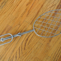 Rustic Metal Wire Spoon or Spatula, Vintage Spoon, Metal Strainer, Metal Scrapper, Antique Kitchen, Cooking Tool