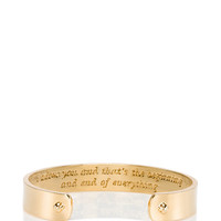 Kate Spade Kiss A Prince I Adore You Cuff Gold ONE