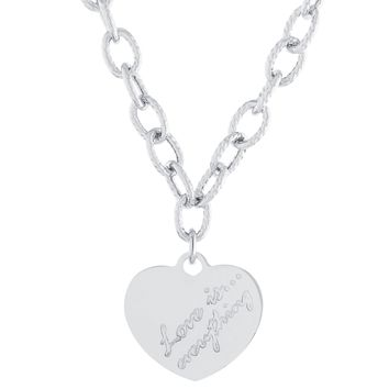 Love Is Everything Heart Link Necklace