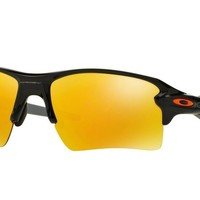OAKLEY Sunglasses OO9188-22 FLAK 2.0 XL Black/Fire Iridium RRP£130