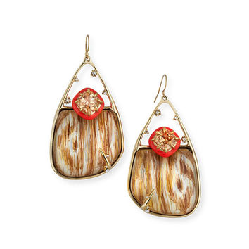 Alexis Bittar Wood-Grain Drop Earrings