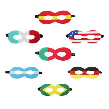 SPECIAL world cup 2018 soccer fans national mask boys hero costume mask shower party dresses gifts toys national day cosplay