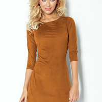 Tan Suede Nights Out Dress
