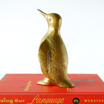 Vintage Brass Penguin Mid Century Modern Decor