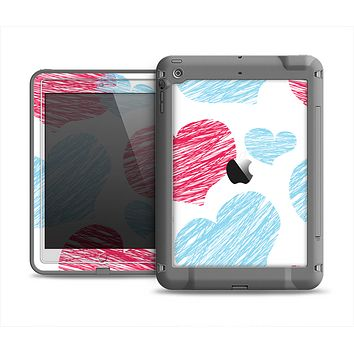 The Red and Blue Lopsided Loop-Hearts Apple iPad Mini LifeProof Fre Case Skin Set